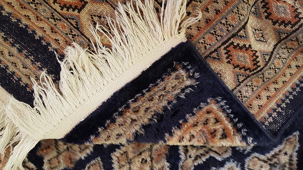 corner of an oriental rug
